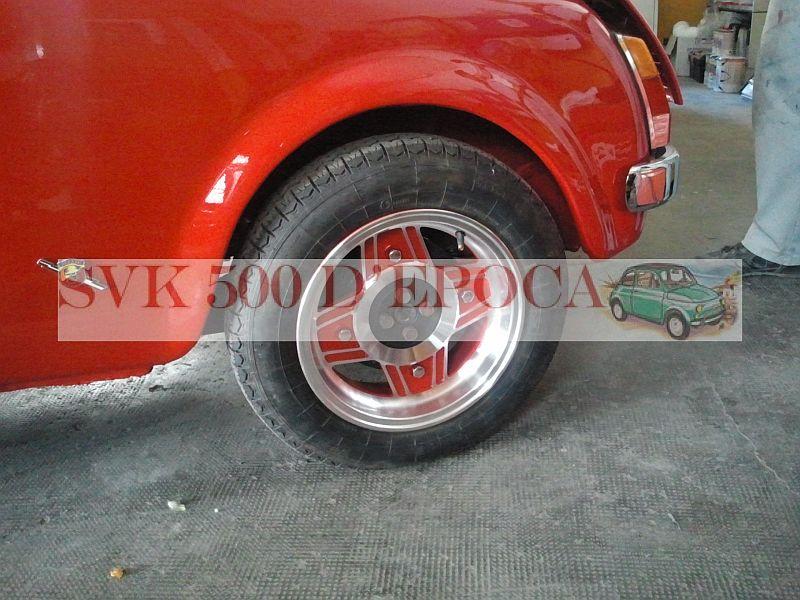 Cerchi In Lega Con Gomme Montate Per Fiat 500 Epoca